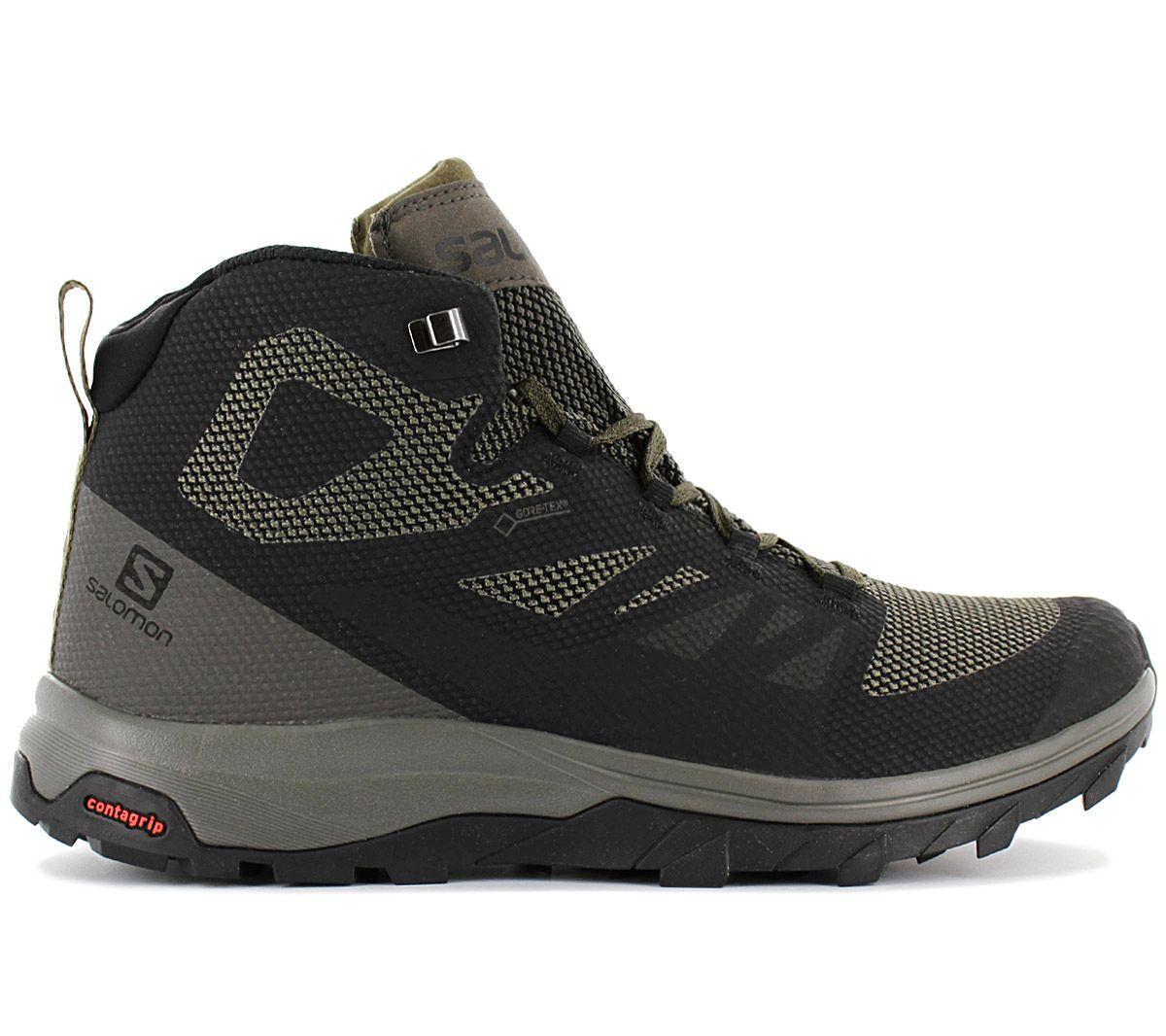 Bisagra Fracaso haz  Salomon Outline mid gtx - gore-tex - 404763 Men's Hiking Shoes Outdoor  Shoes | eBay