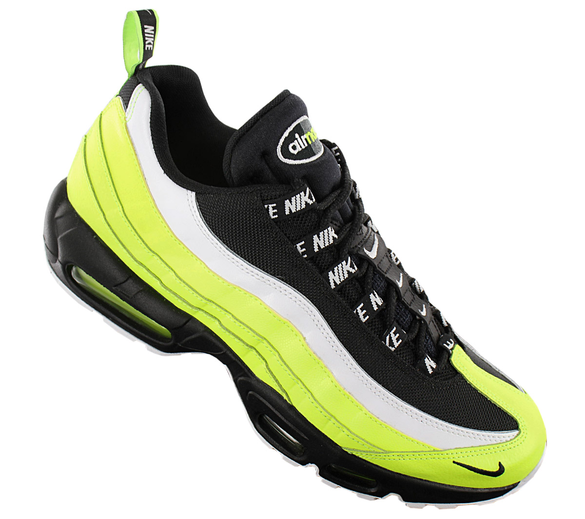 Details about Nike Air Max 95 Premium Men's Sneaker 538416 701 Black Volt Shoes