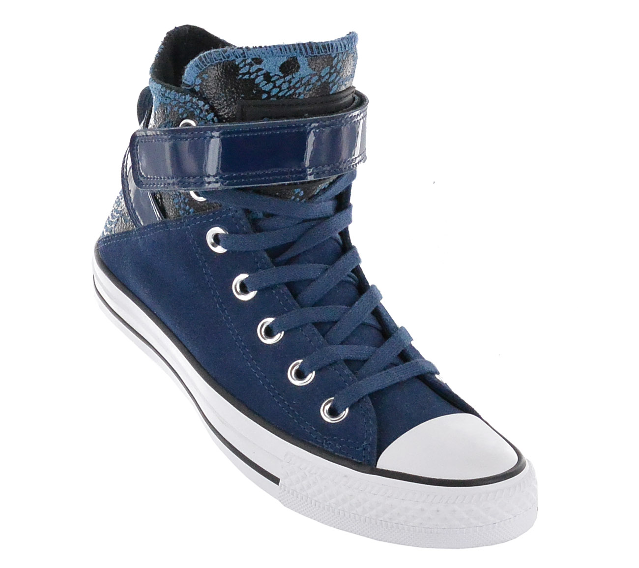 25725e5a6ceb Converse Chucks all Star Ct Brea Hi Night Leather Women s Shoes Blue ...