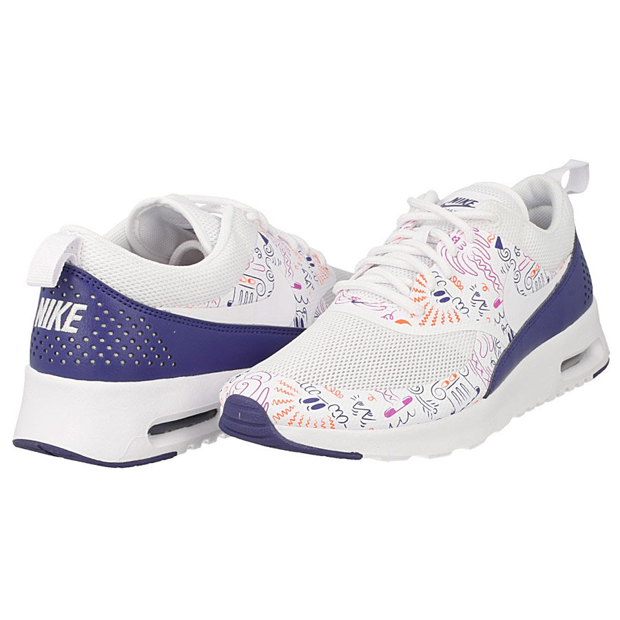 WMNS Nike Air Max Thea Print White Navy Womens Running Trainers Shoes 599408 104 6