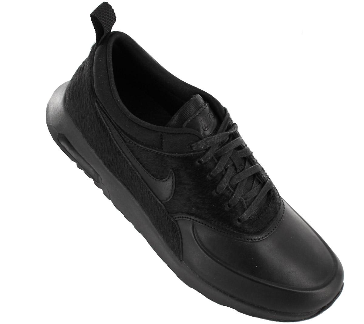 14a2946d319 Nike Air Max Thea Premium Ladies Sneaker Shoes Leather Black 616723 ...