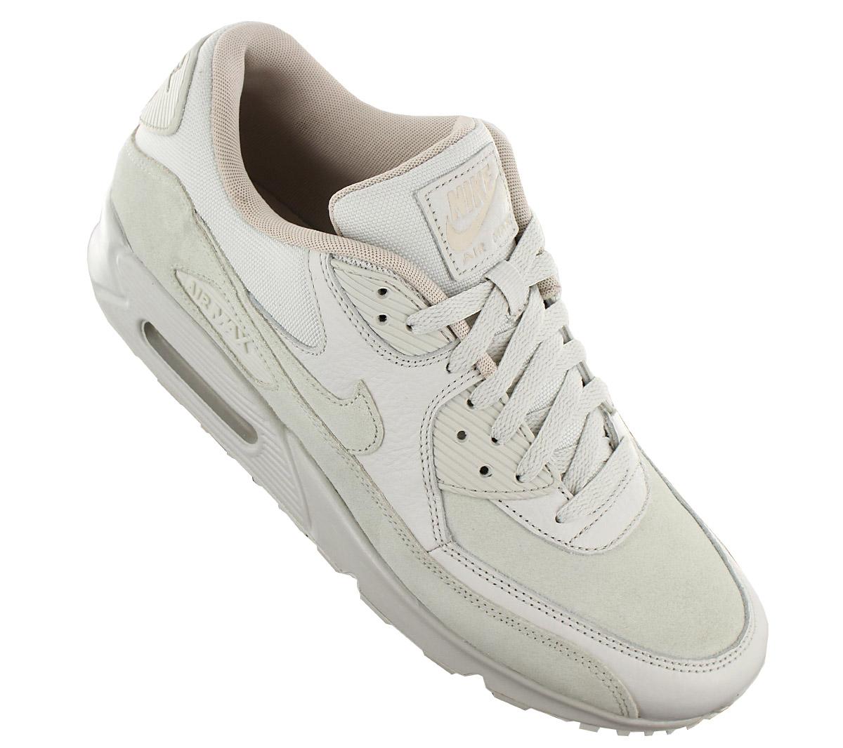 Details about Nike air max 90 Leather Premium Men's Sneaker Shoes Light Bone 700155 013