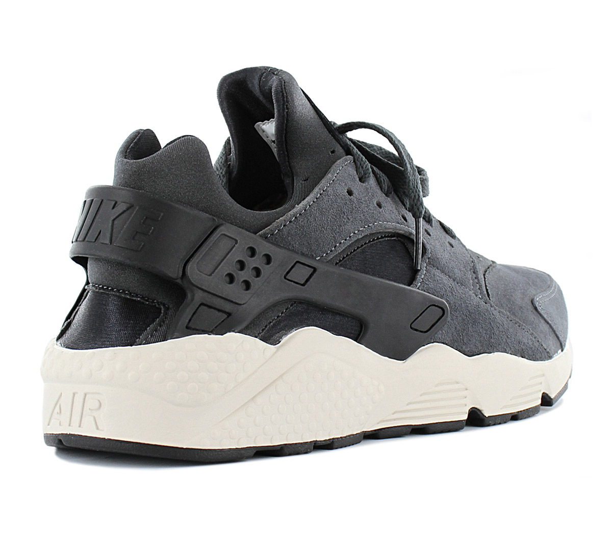 b9511a8ff571 Nike Air Huarache Run Premium Mens Sneakers Leather Shoes 704830-016 ...