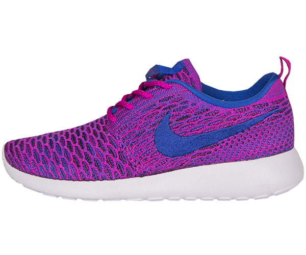 53016f1a6f8d Nike WMNS Roshe One Flyknit Rosherun Purple Blue Womens Running ...