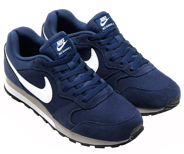 nike md runner 2 men 39 s navy shoes sneaker sports new air. Black Bedroom Furniture Sets. Home Design Ideas
