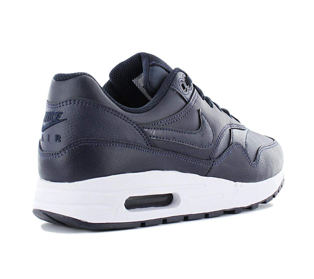 NIKE AIR MAX 1 Leather ID Gr.43 Schuhe Sneaker Herren Leder blau Neu 90 Premium