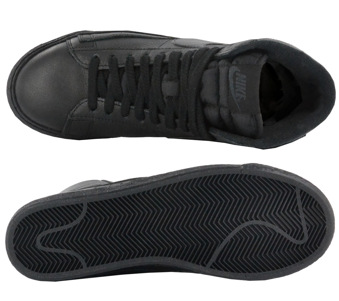 97dc56eb3f88 Details zu Nike Blazer Mid SE Sneaker Schwarz Damen Leder Schuhe Turnschuhe  NEU 885315-001