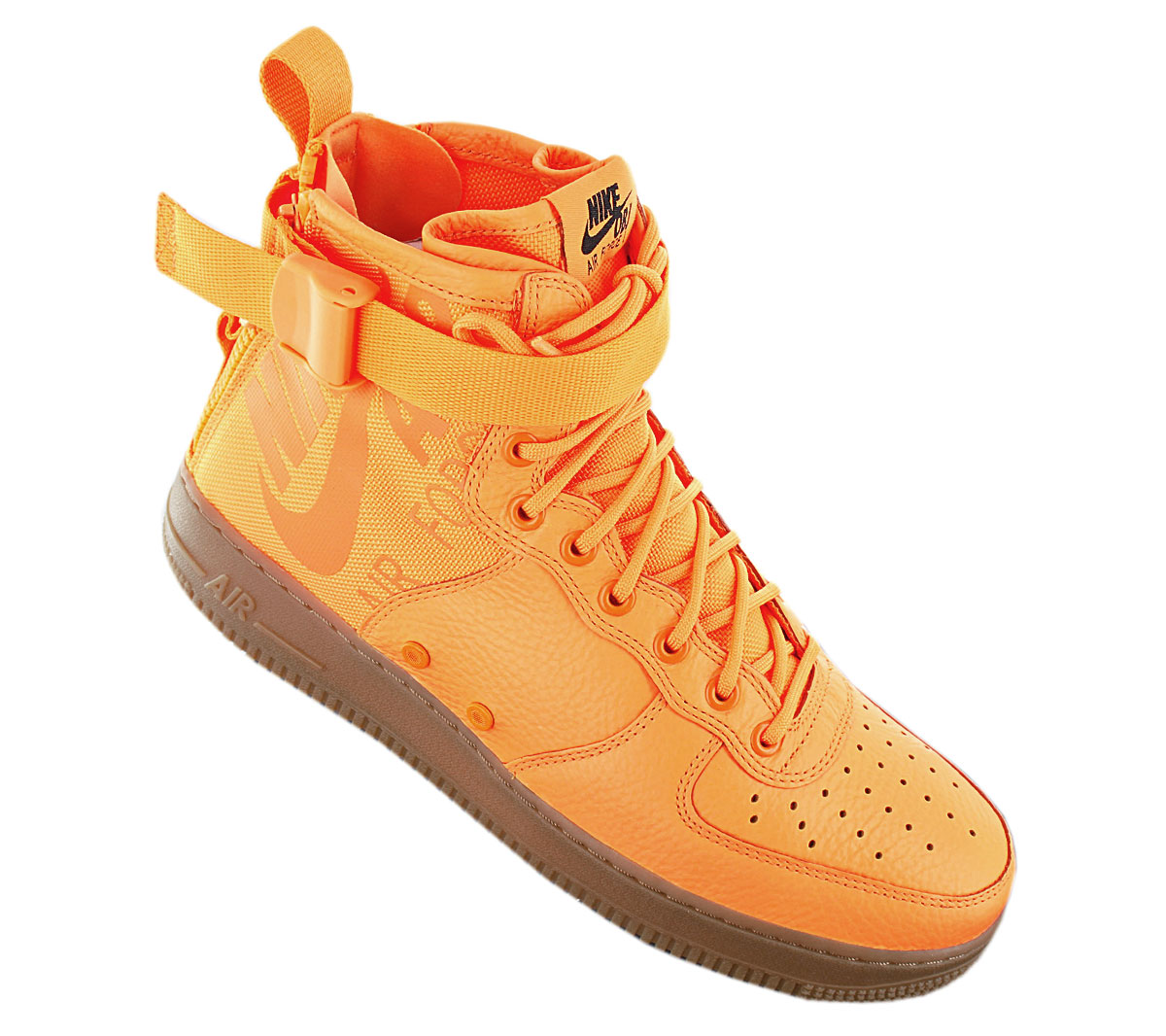 Details zu Nike SF AIR FORCE 1 MID OBJ 917753 801 Herren Sneaker Orange Turnschuhe NEU