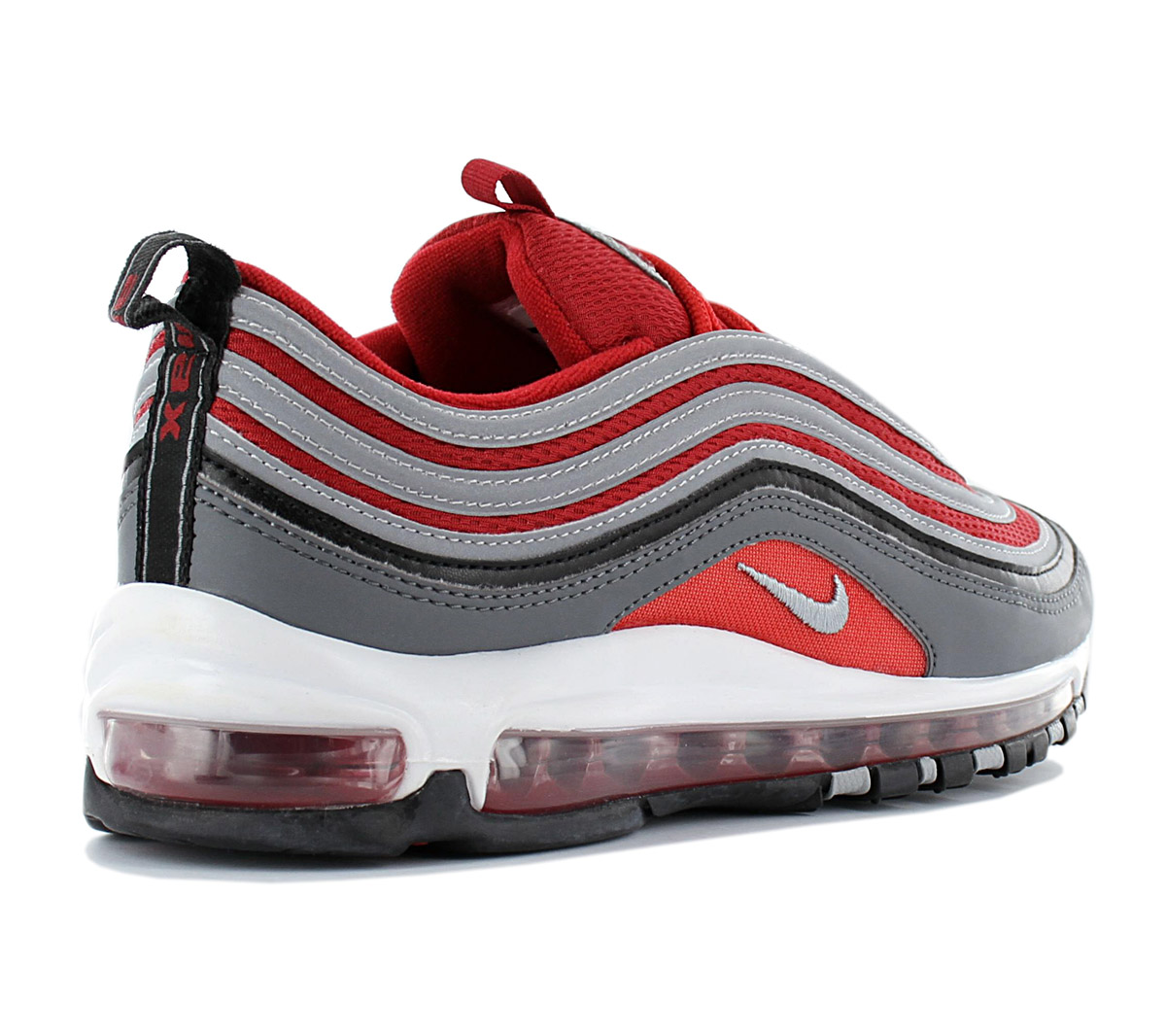 Details about Nike Air Max 97 Men's Premium Sneaker 921826 007 Grey Red Shoes New