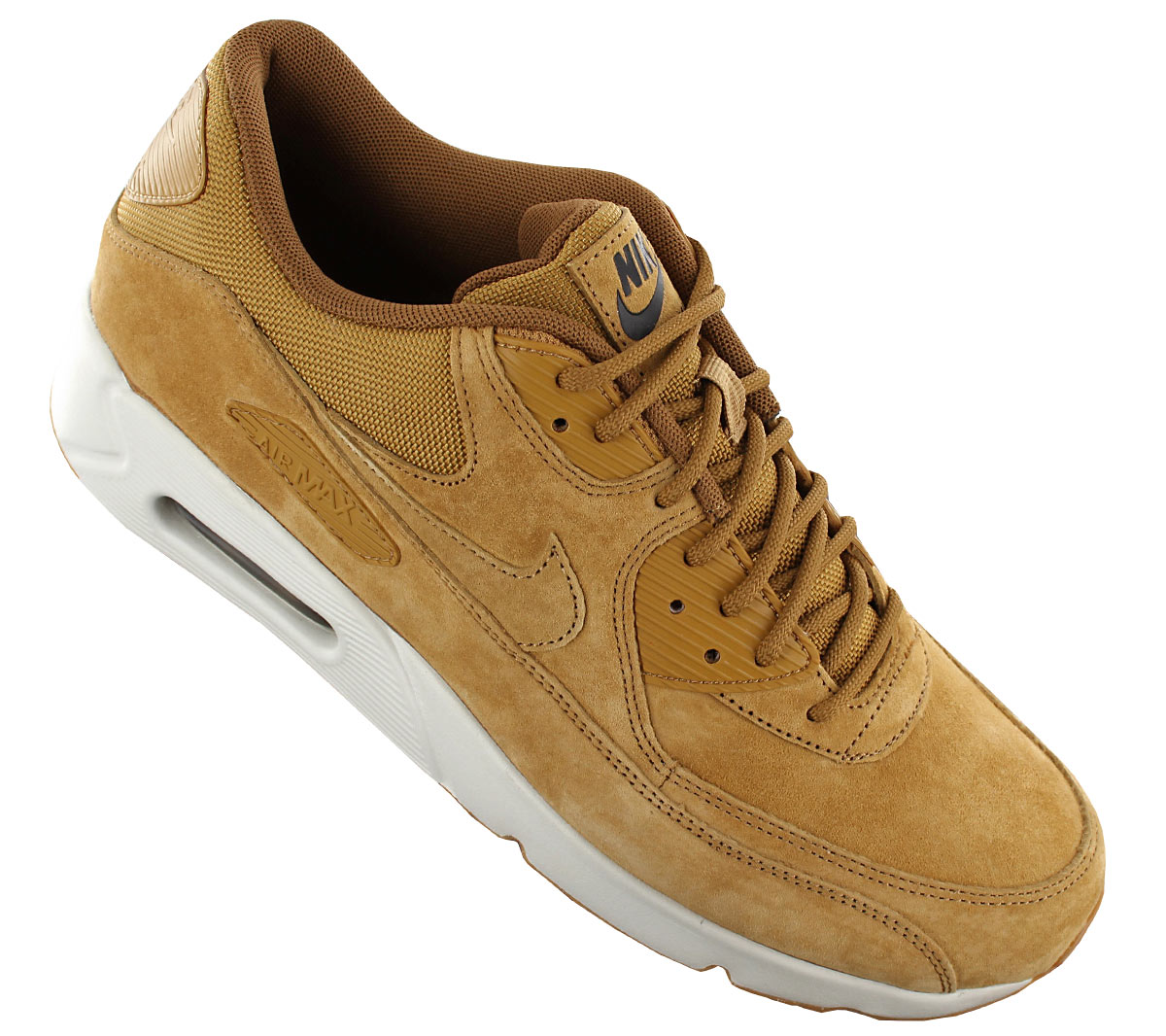 Details about Nike air max 90 Ultra 2.0 Leather Ltr Men's Sneaker 924447 700 Shoes Braun New