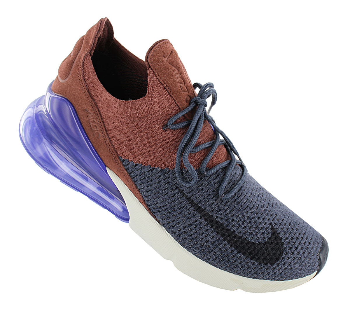 Details about Nike air max 270 Flyknit Men's Sneaker AO1023 402 Blue Brown Shoes Sneakers