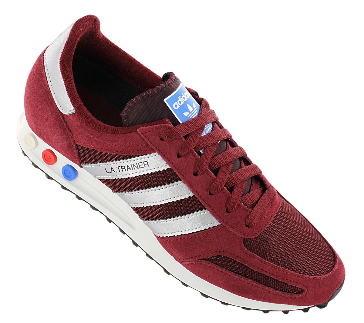 Details zu Adidas LA Trainer Schuhe Herren Originals Sneaker Turnschuhe burgundy AQ1182