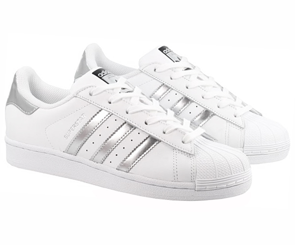 adidas superstar 2 schuhe sneaker leder wei silber herren damen sportschuhe neu ebay. Black Bedroom Furniture Sets. Home Design Ideas