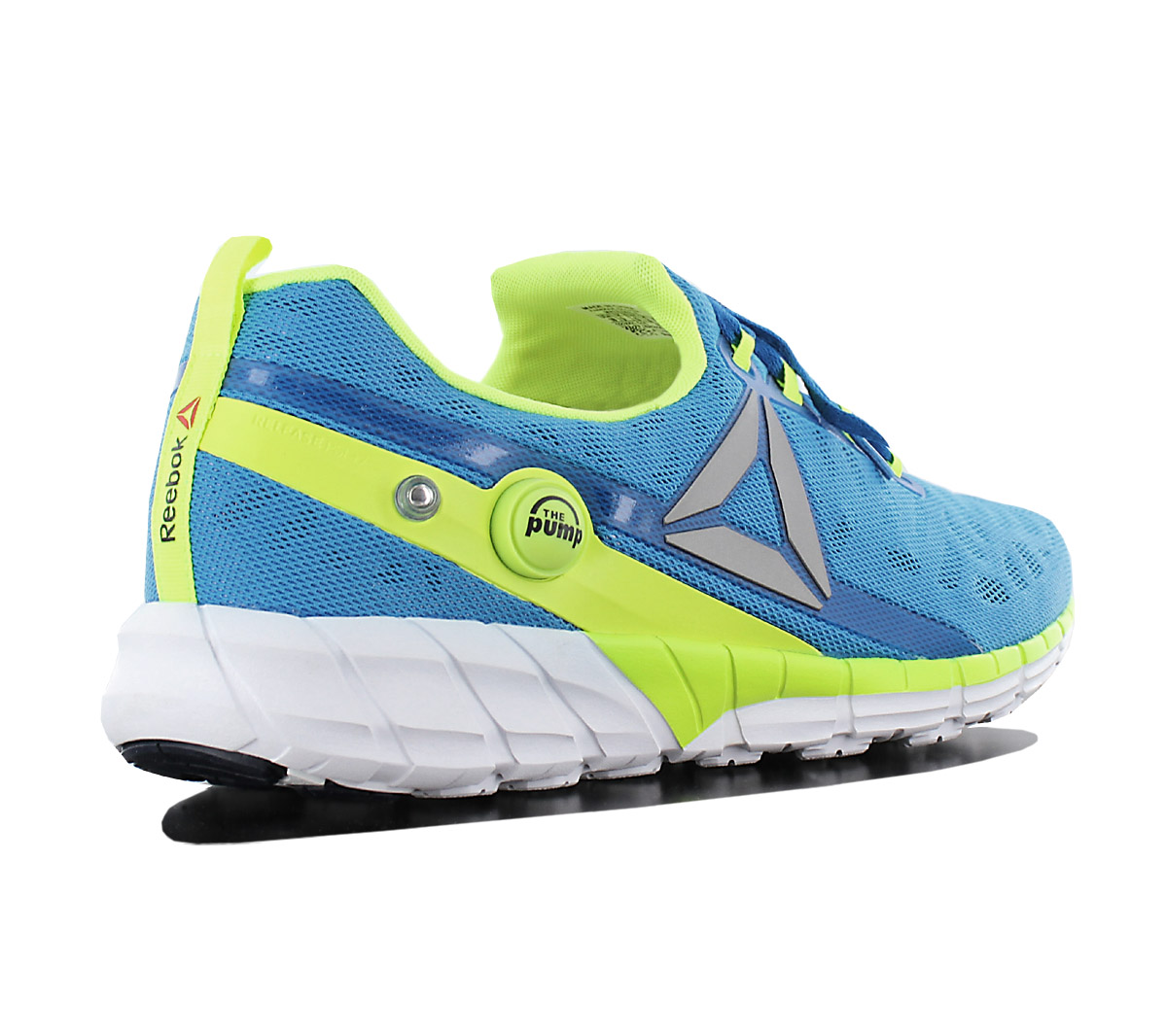 Detalles de Reebok Pump Fusion 2.5 Hombre Zapatos Azul AR0088 Zapatillas de Correr Nuevo