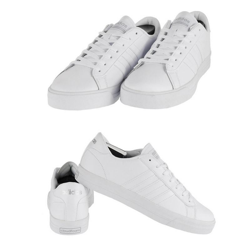new product 10a38 2fb57 ... zapatos de Adidas hombres diario Cloudfoam Super blanco ...