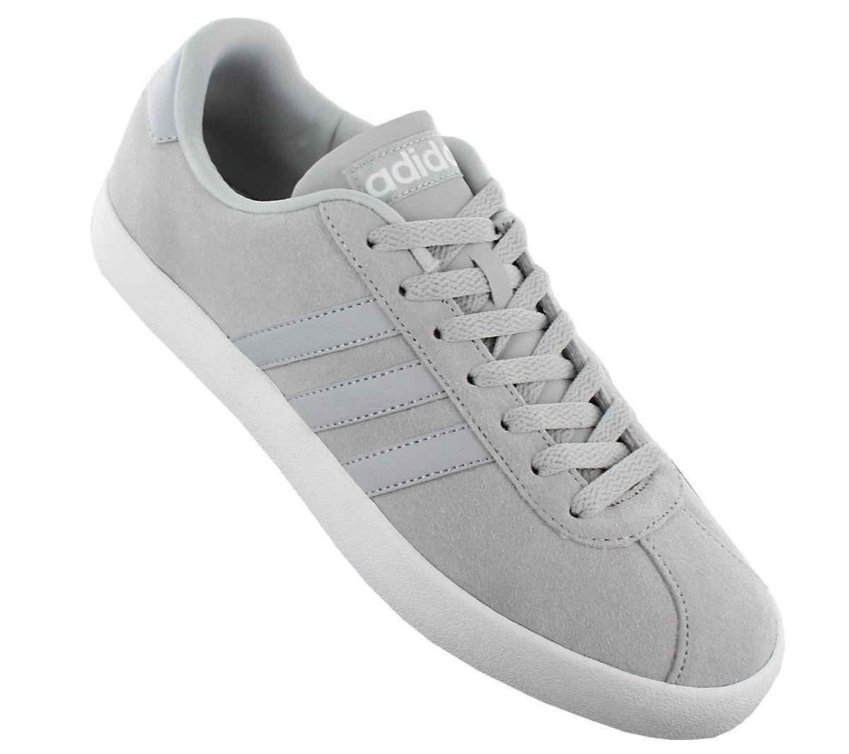 adidas vl corte, te le scarpe di cuoio grigio scarpe scarpe uomini