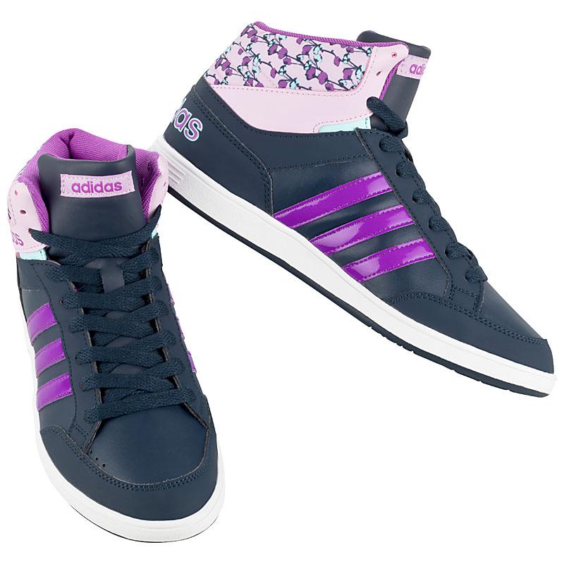 e9e3e4367e67 adidas Frauen Hoops Mid Sneaker Damen Schuhe Turnschuhe Blumen Navy ...
