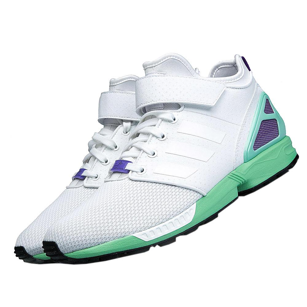 Nuove adidas zx flusso pn metà b34460 donne scarpe formatori scarpe vendita