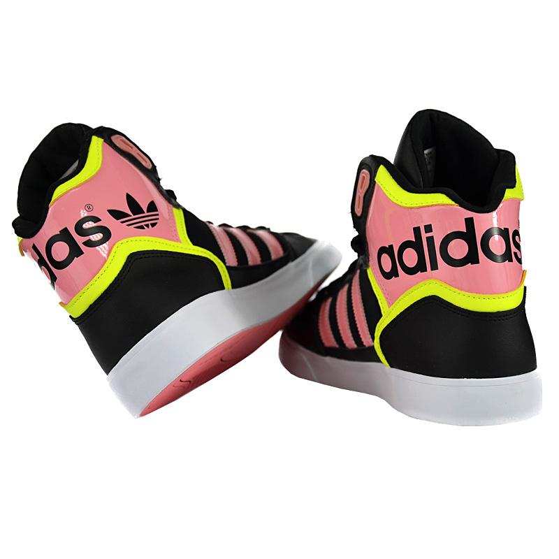 adidas originals extaball w schwarz damen high sneaker schuhe hohe turnschuhe ebay. Black Bedroom Furniture Sets. Home Design Ideas