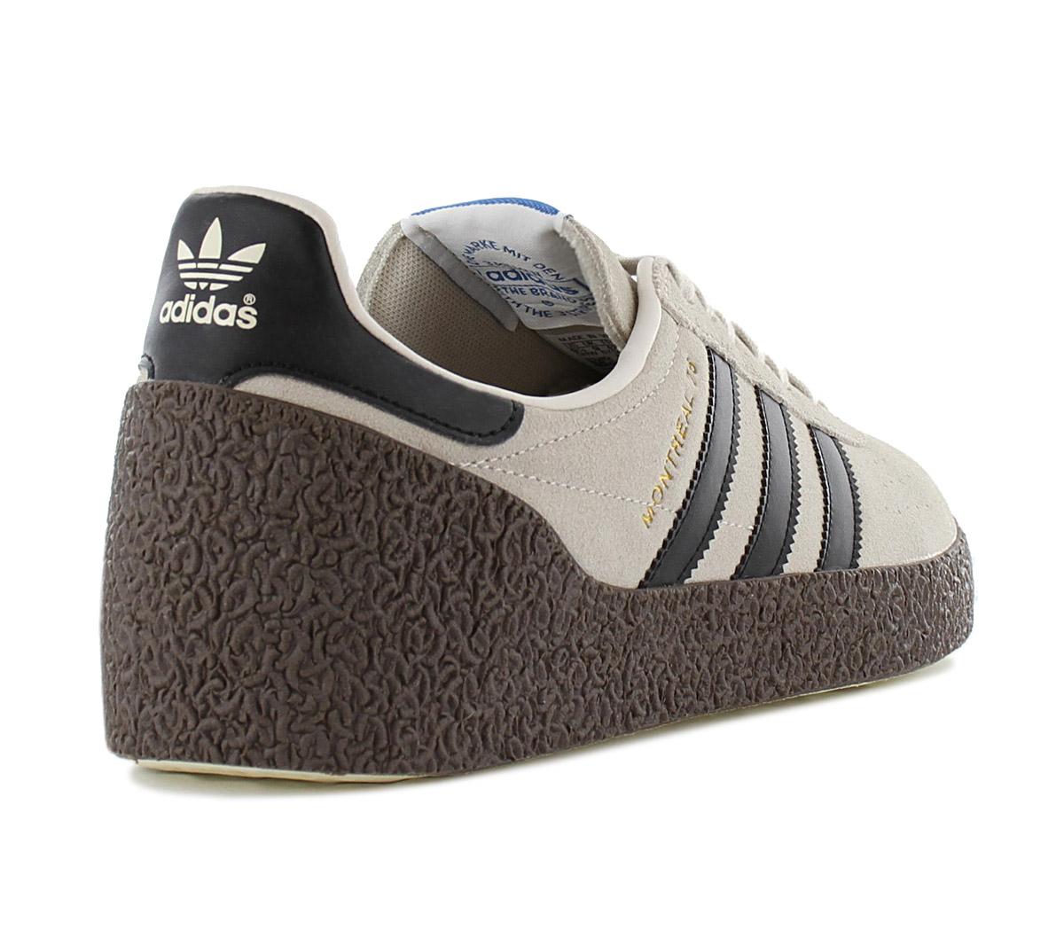 Details zu adidas Originals Montreal 76 Herren Sneaker B37915 Braun Schuhe Retro Turnschuhe