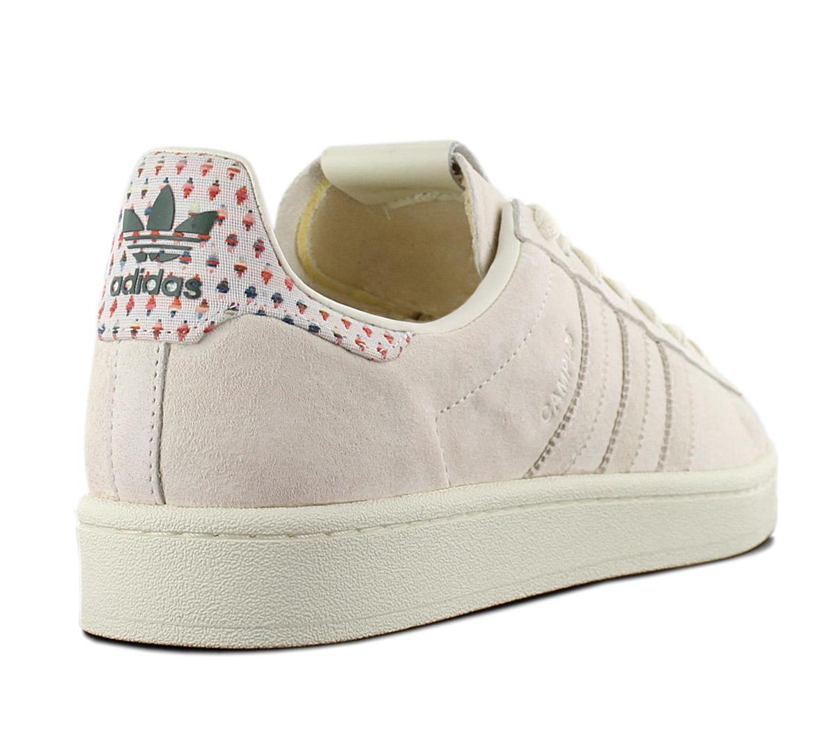 Adidas Originals Campus Pride Men/'s Sneaker B42000 Leather Cream-White Shoes New
