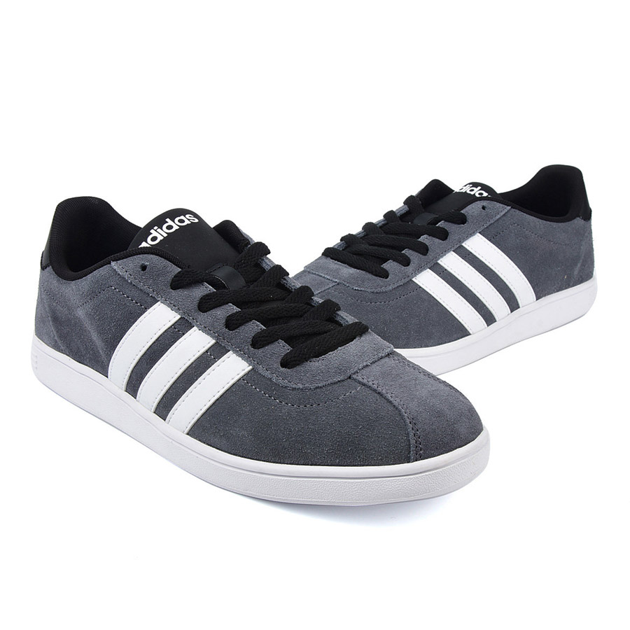 NEU adidas Vlcourt Low B74458 caballeros  zapatos  Grau B74458 Low SALE d2926e
