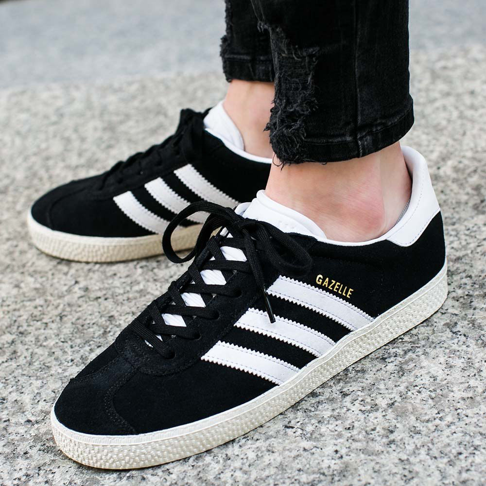 a1ebeb4cf75f Adidas Originals Gazelle 2 Sneaker Black Ladies Shoes Trainers Retro ...