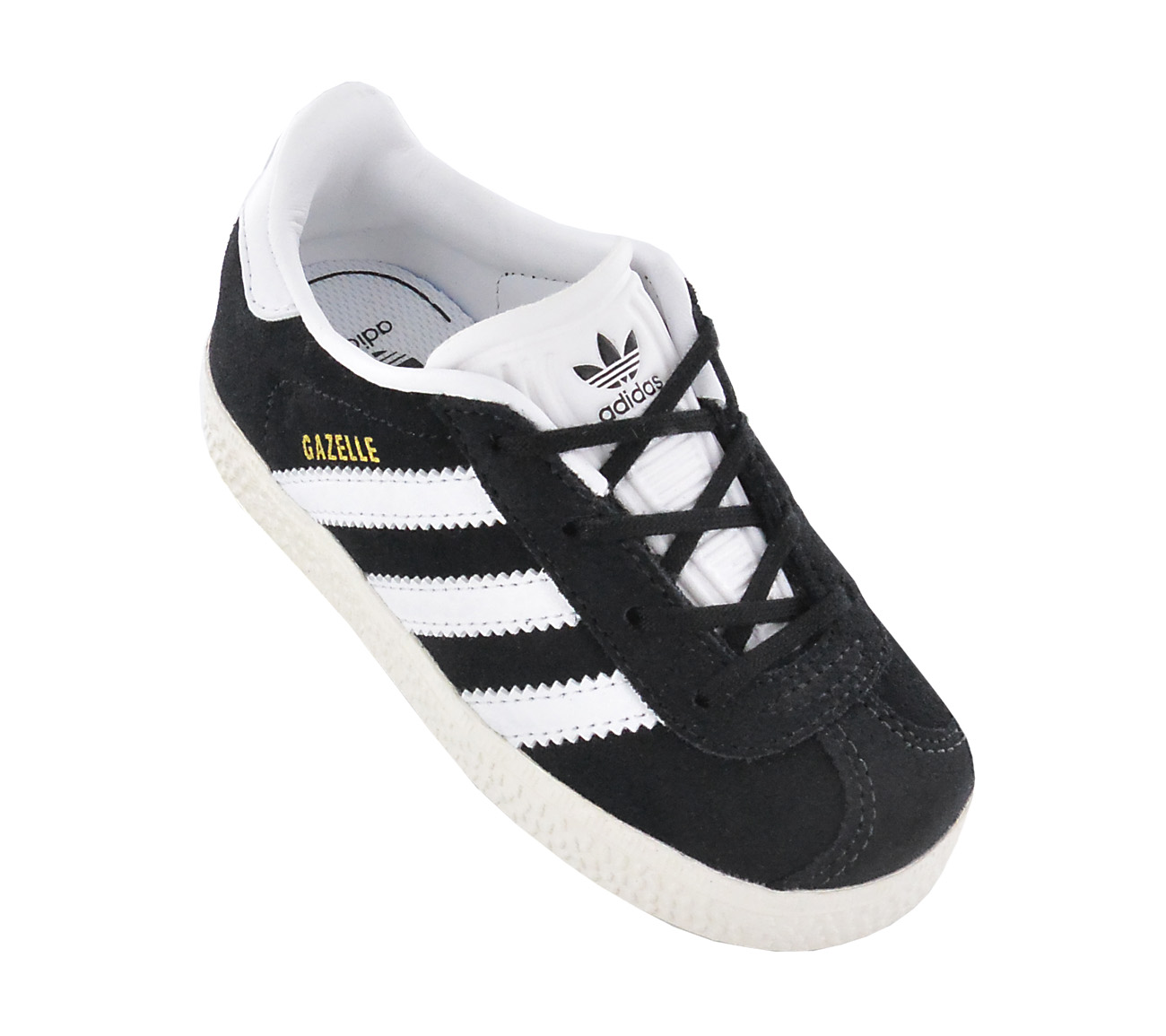 Adidas Gazelle Y Childrens Shoes Leather Boys Girls Sneaker Black ... 1e799e8f495