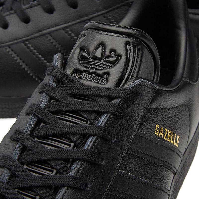 adidas leather black gazelles mens