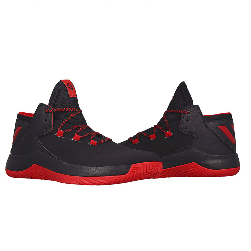 detailed look 0ea5d 7a314 Adidas Derrick D Rose Menace 2 Black Baketball Shoes Mens Sh