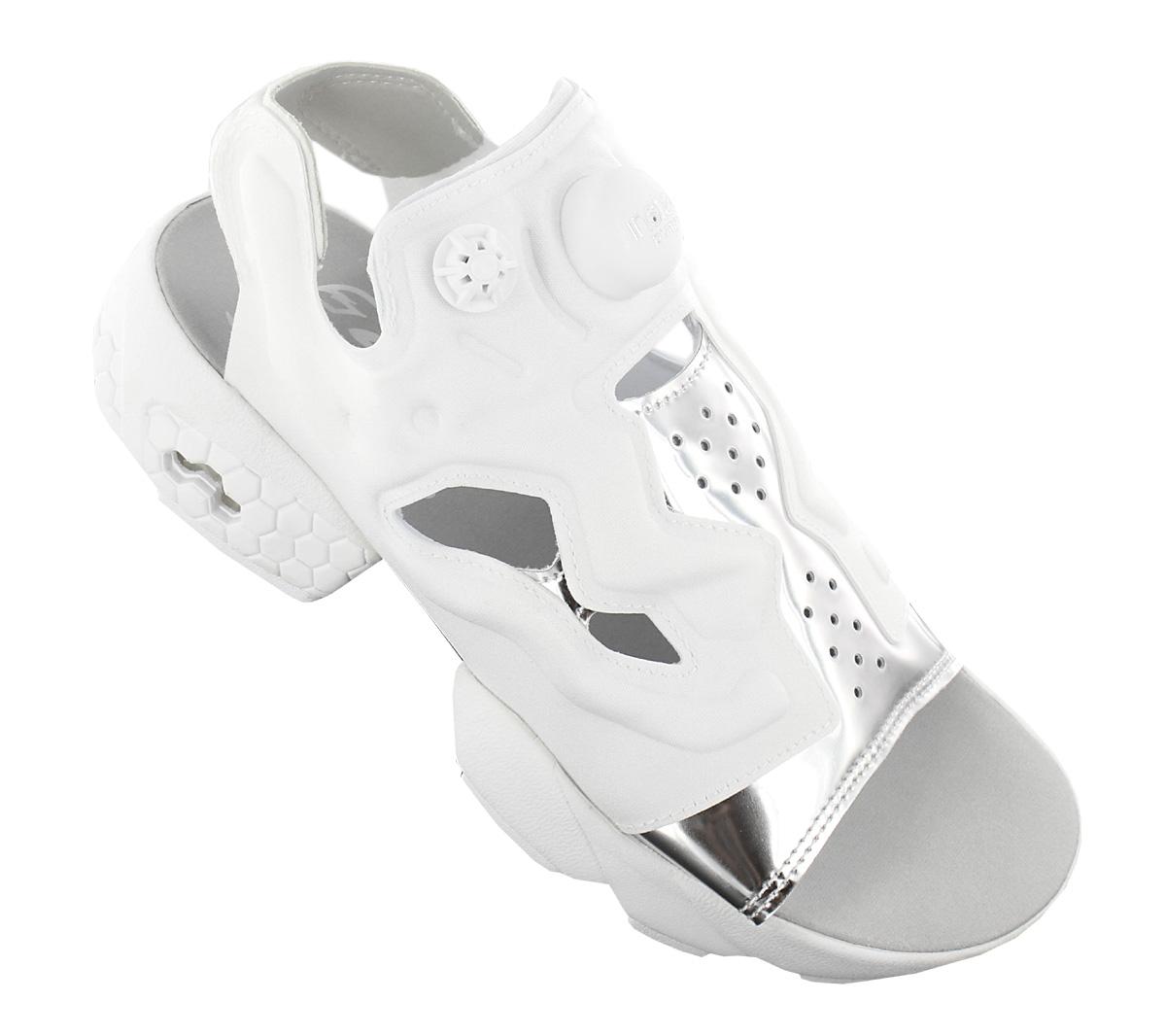 Details zu Reebok Instapump Fury Sandal Mag Damen Sandalen Sneaker Plateau BD3186 Weiß NEU