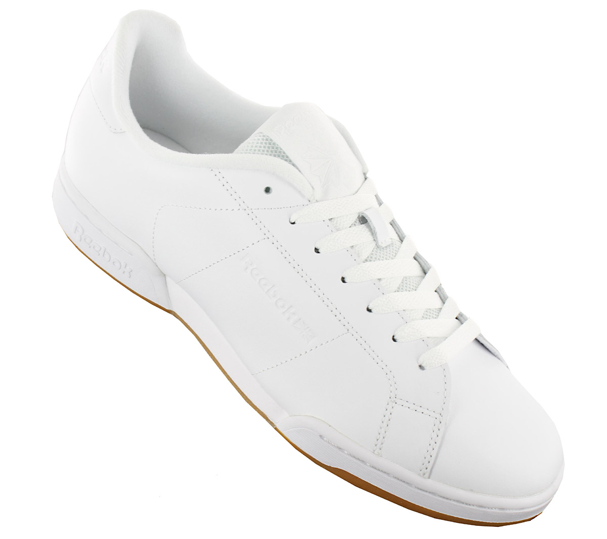 58e527917d9 Reebok Classic Npc II TG Mens Sneakers Leather Shoes White Workout ...