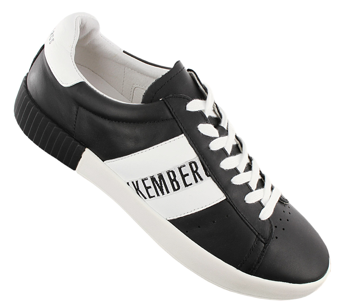 Details about Bikkembergs Cosmos 2434 Men's Sneaker BKE109350 Black Leather Shoes Leisure
