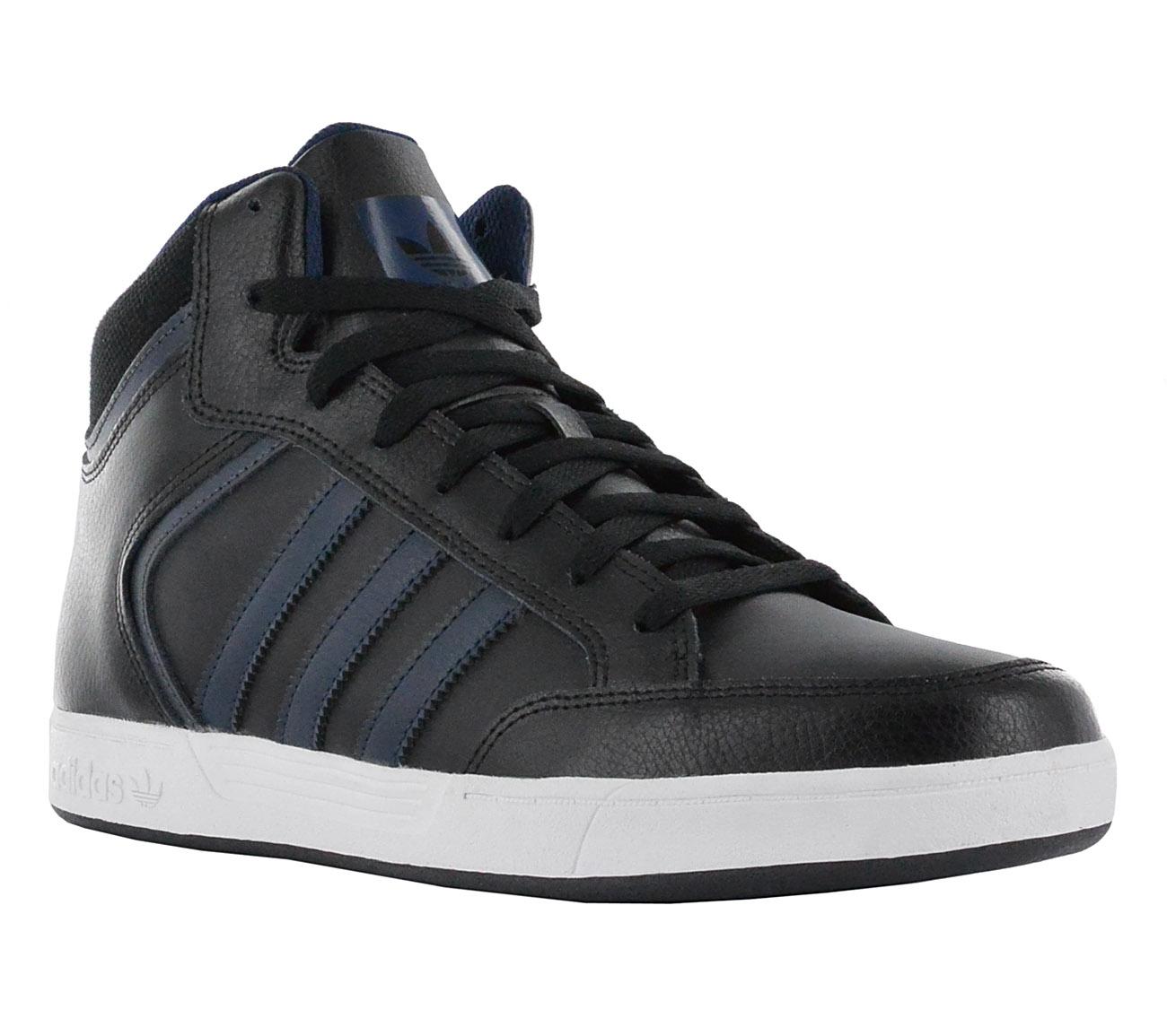 adidas uomini scarpe nere con le scarpe di pelle varial metà nuovi