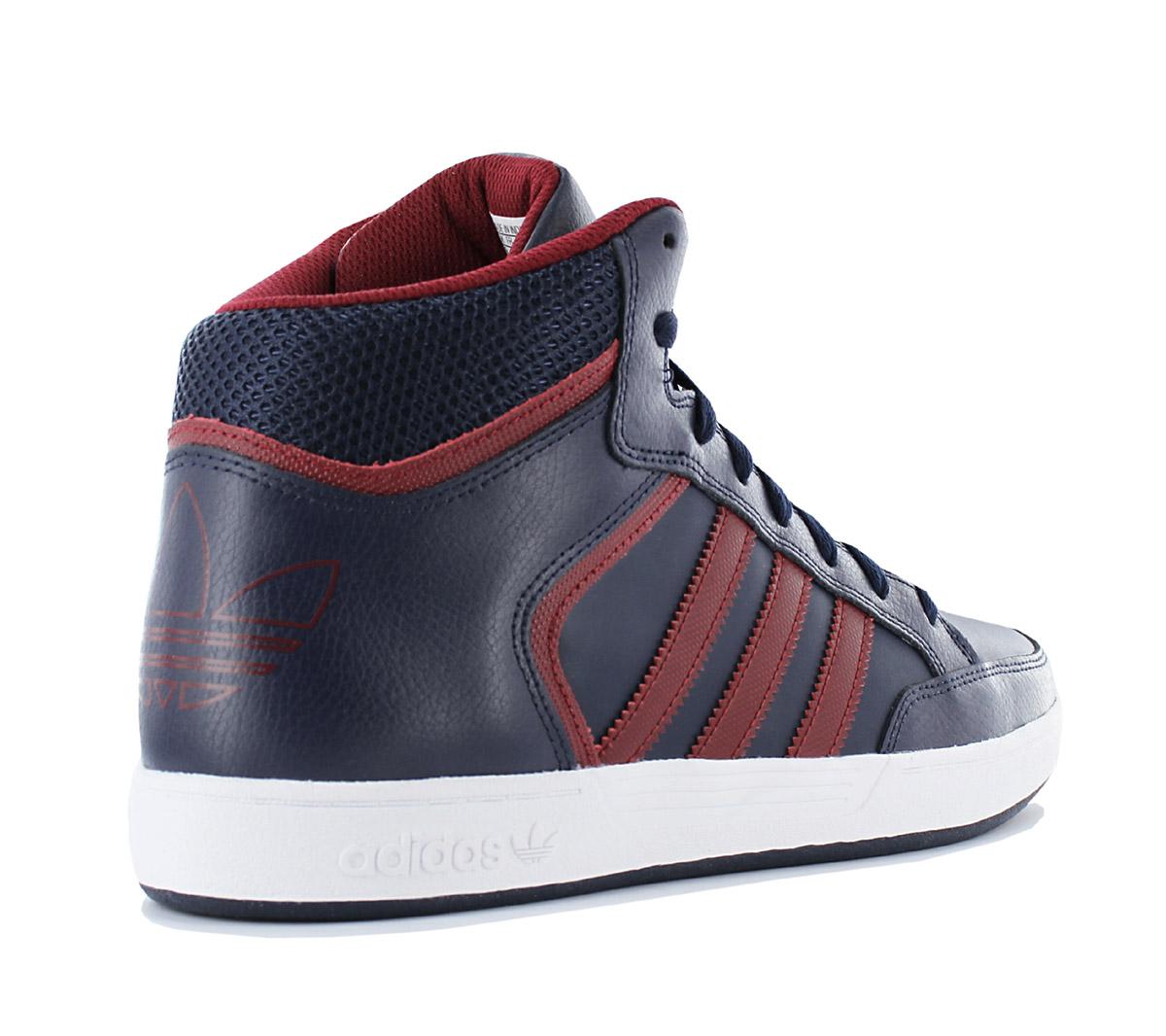 adidas varial metà uomini scarpe di pelle blu soes pattinare le scarpe