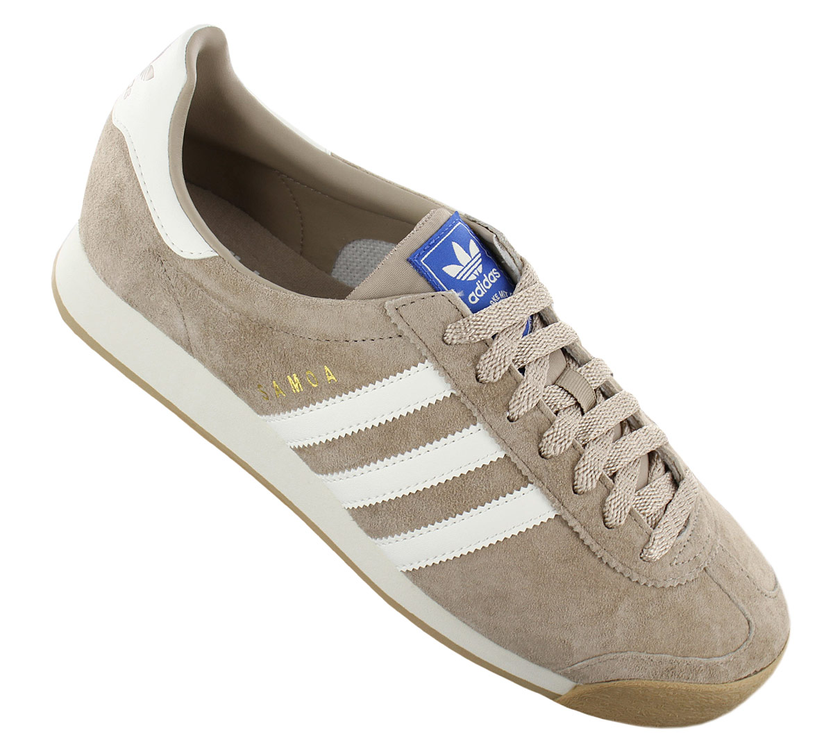 02b01b3aa6b Adidas Originals Samoa Vintage Trainers Leather Shoes Brown By4132 ...