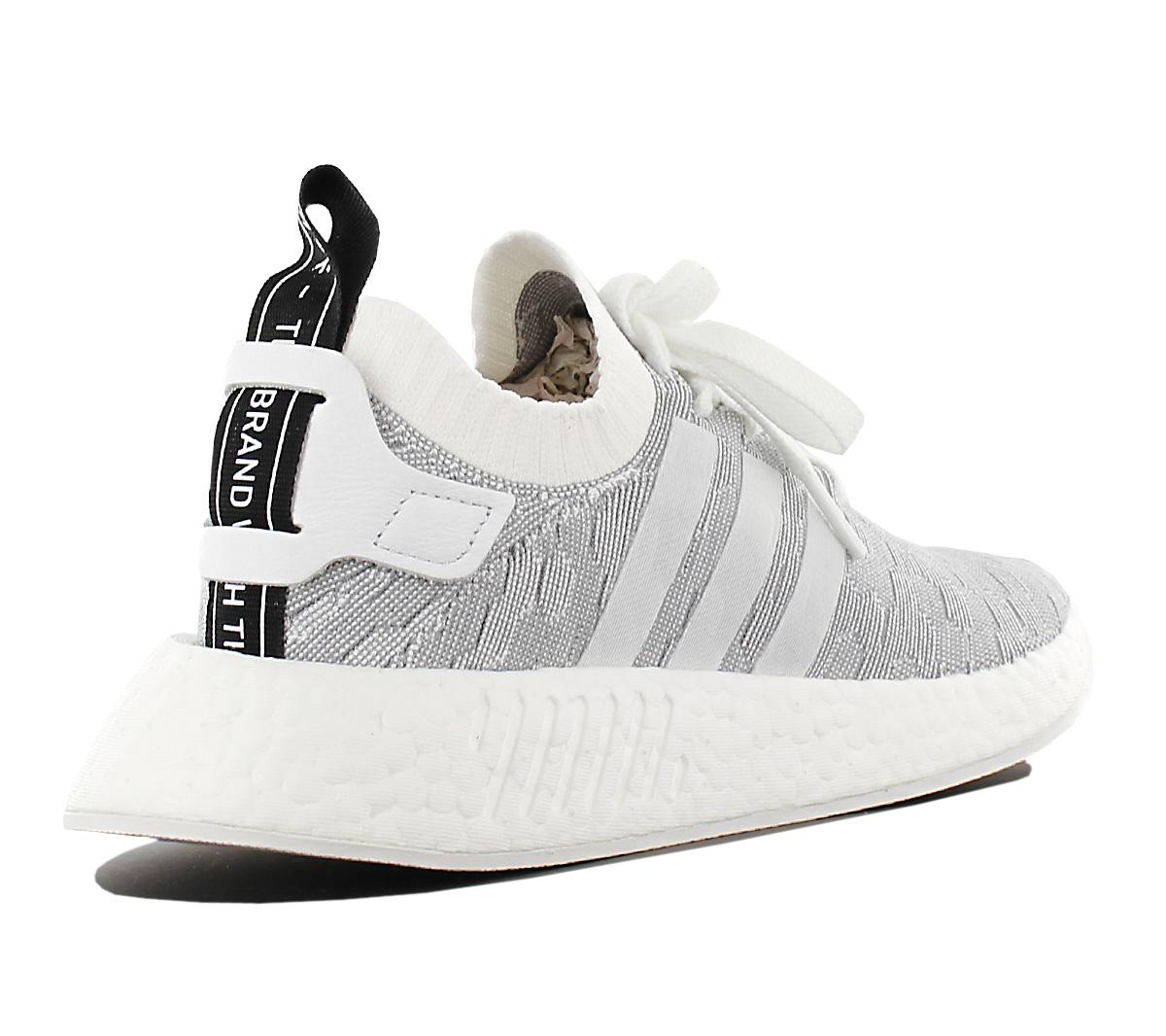 adidas Originals NMD R2 PK W BY9520 Damen Schuhe Weiß Grau