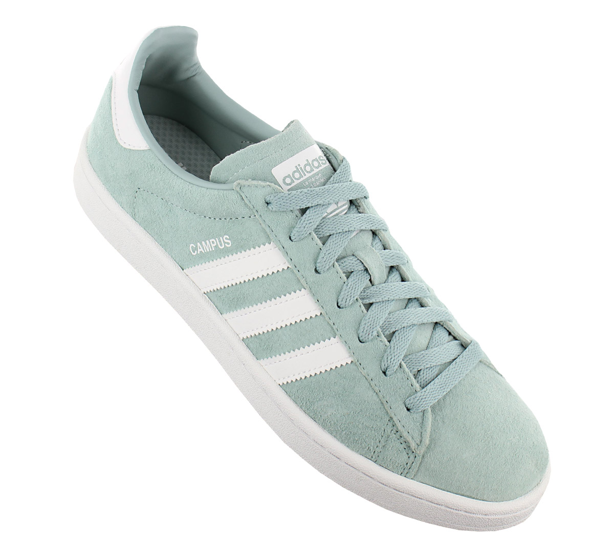 Details about Adidas Originals Campus Leather Men's Sneaker Shoes Green BZ0082 Trainers New