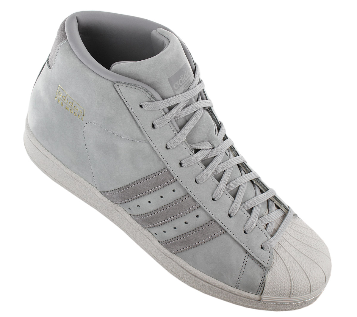 Details zu adidas Originals Pro Model Leather Superstar Sneaker Schuh Grau BZ0215 Turnschuh