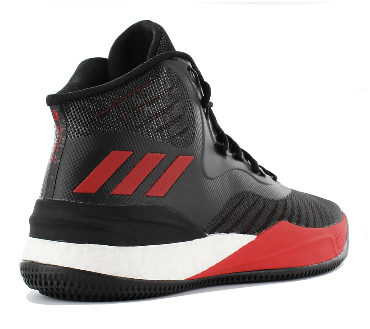 reputable site 4811a 0e5c6 Adidas D Derrick Rose 8 Boost Men s Basketballshoe Shoes Black ...