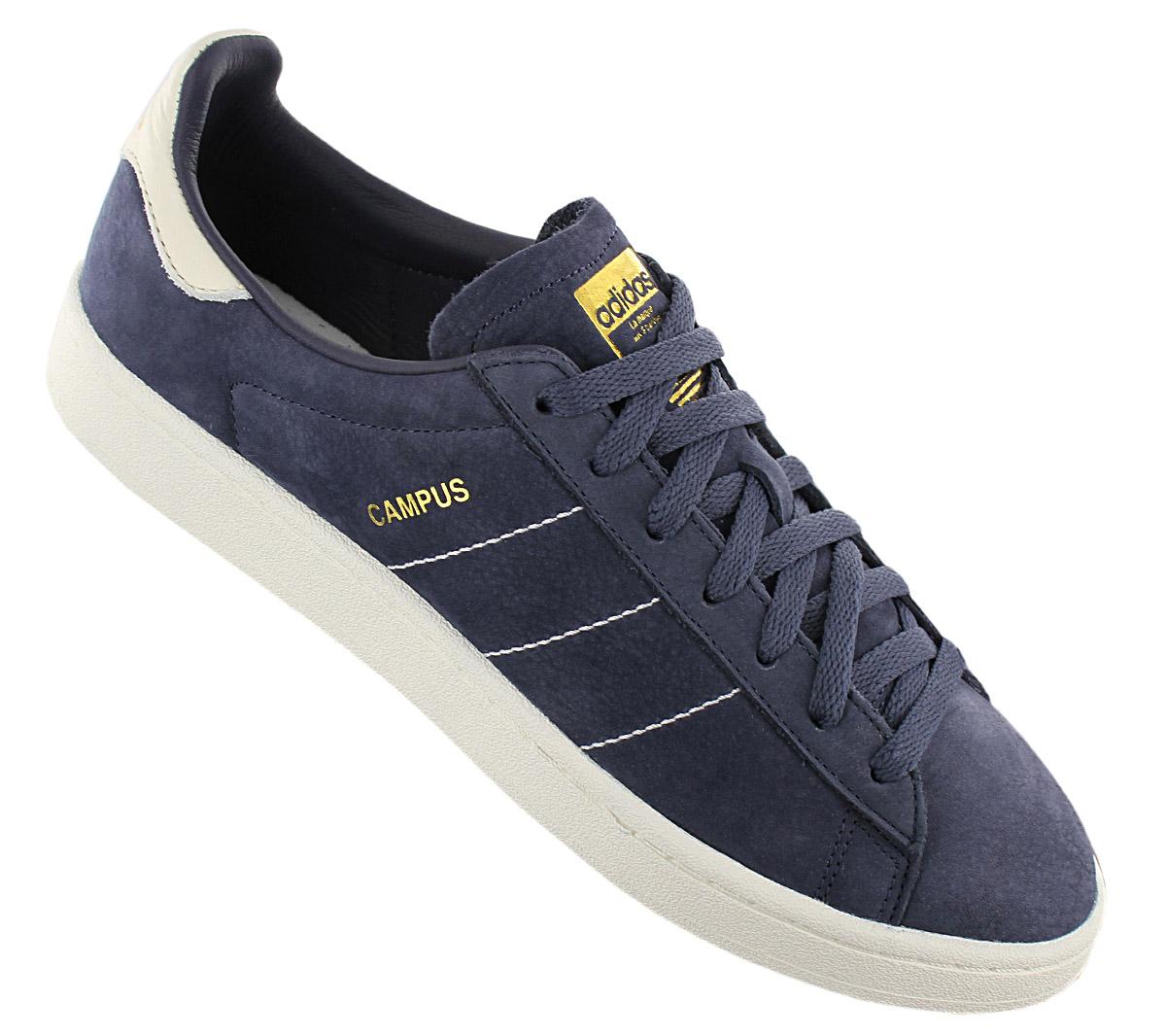 Details zu adidas Originals Campus Herren Sneaker Schuhe CQ2047 Leder Blau Turnschuhe NEU