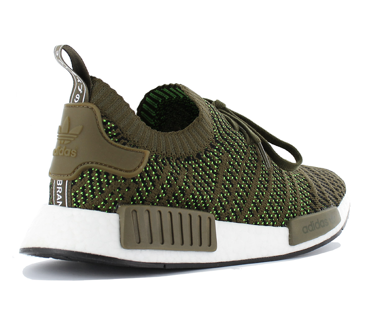 official photos 909de cd051 Details about Adidas Nmd R1 Stlt Pk Primeknit Men's Boost Sneaker Shoes  Olive Green CQ2389 New