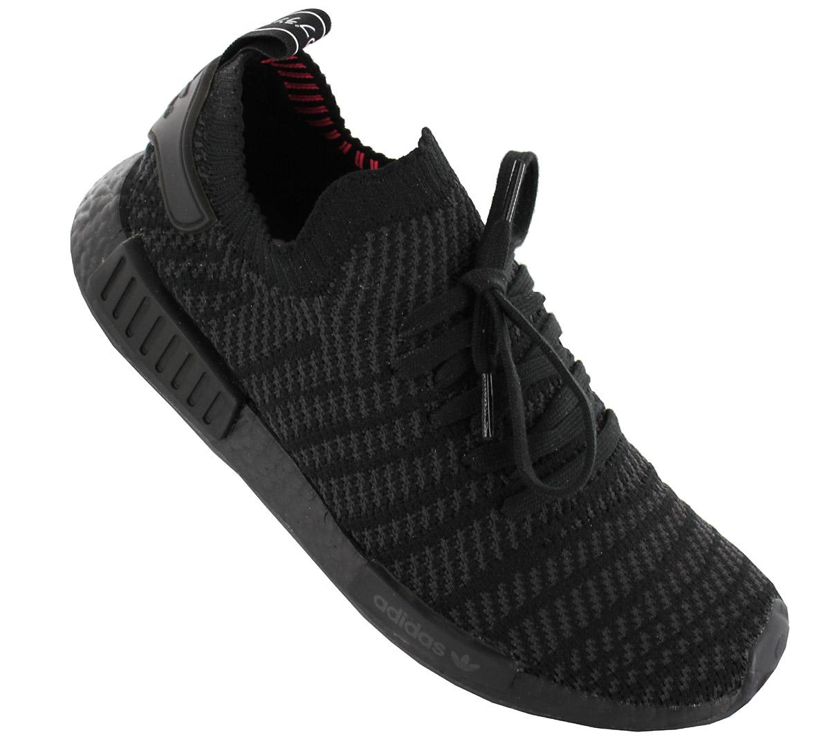 best sneakers 96e9f 87c34 Adidas NMD R1 STLT PK Primeknit Mens Sneaker Shoes Black cq2