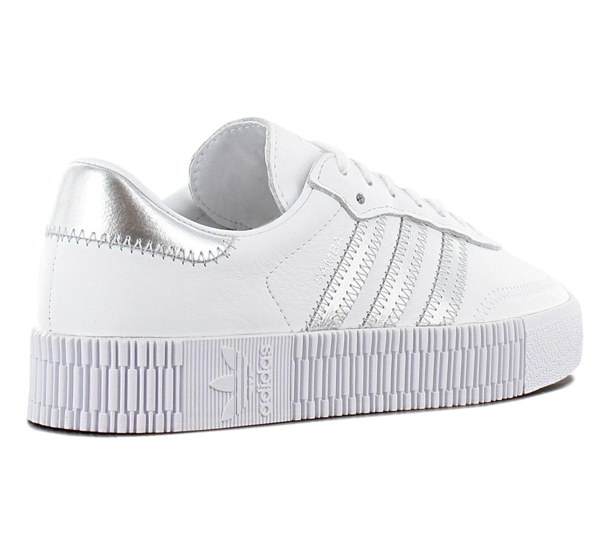 Details zu adidas Originals Sambarose W Damen Sneaker EE9017 Weiß Leder Schuhe Samba NEU