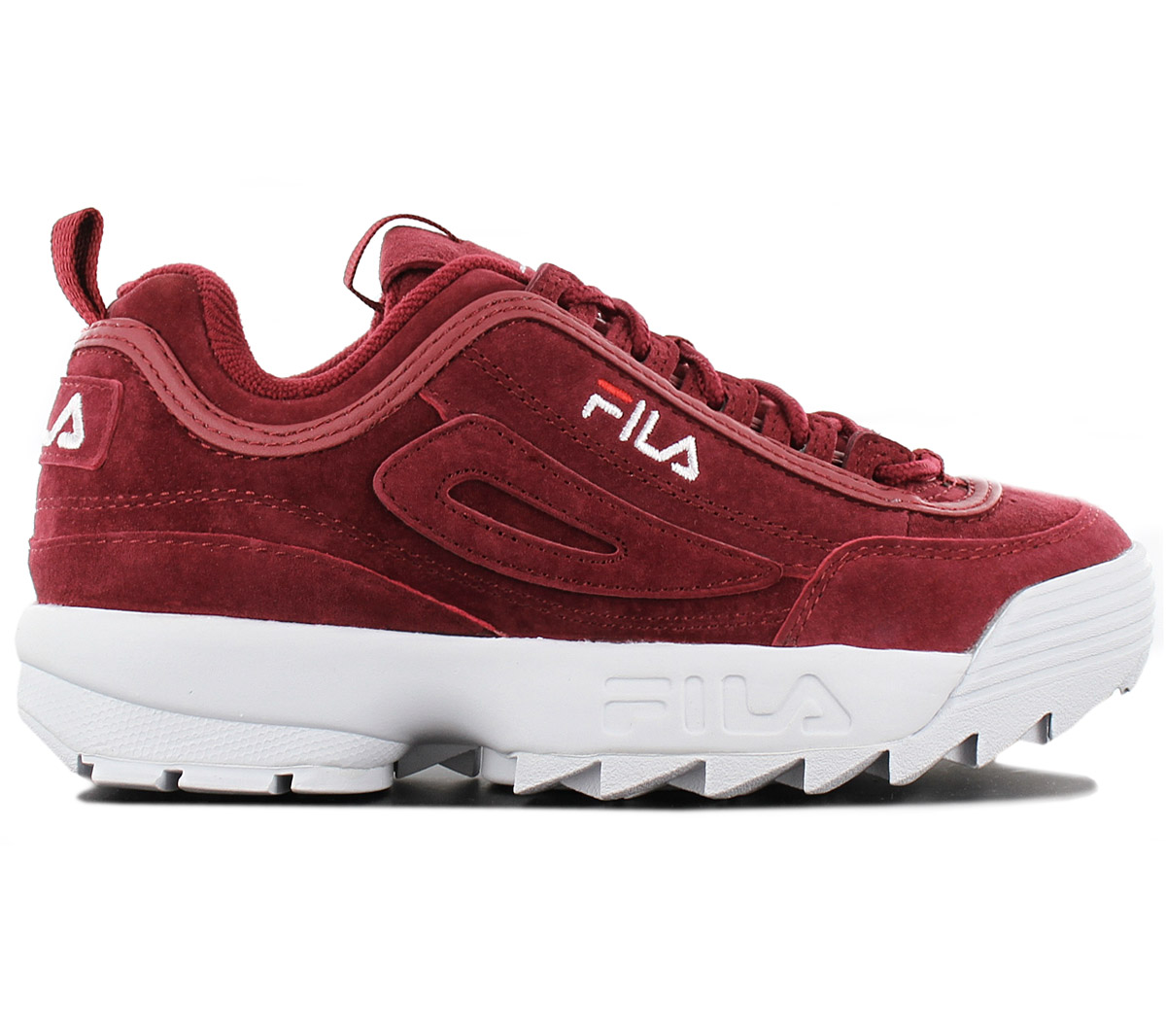 453fb29c83ce13 Fila Disruptor Leather S LOW Cr Ladies Sneaker Shoes Leather Red ...