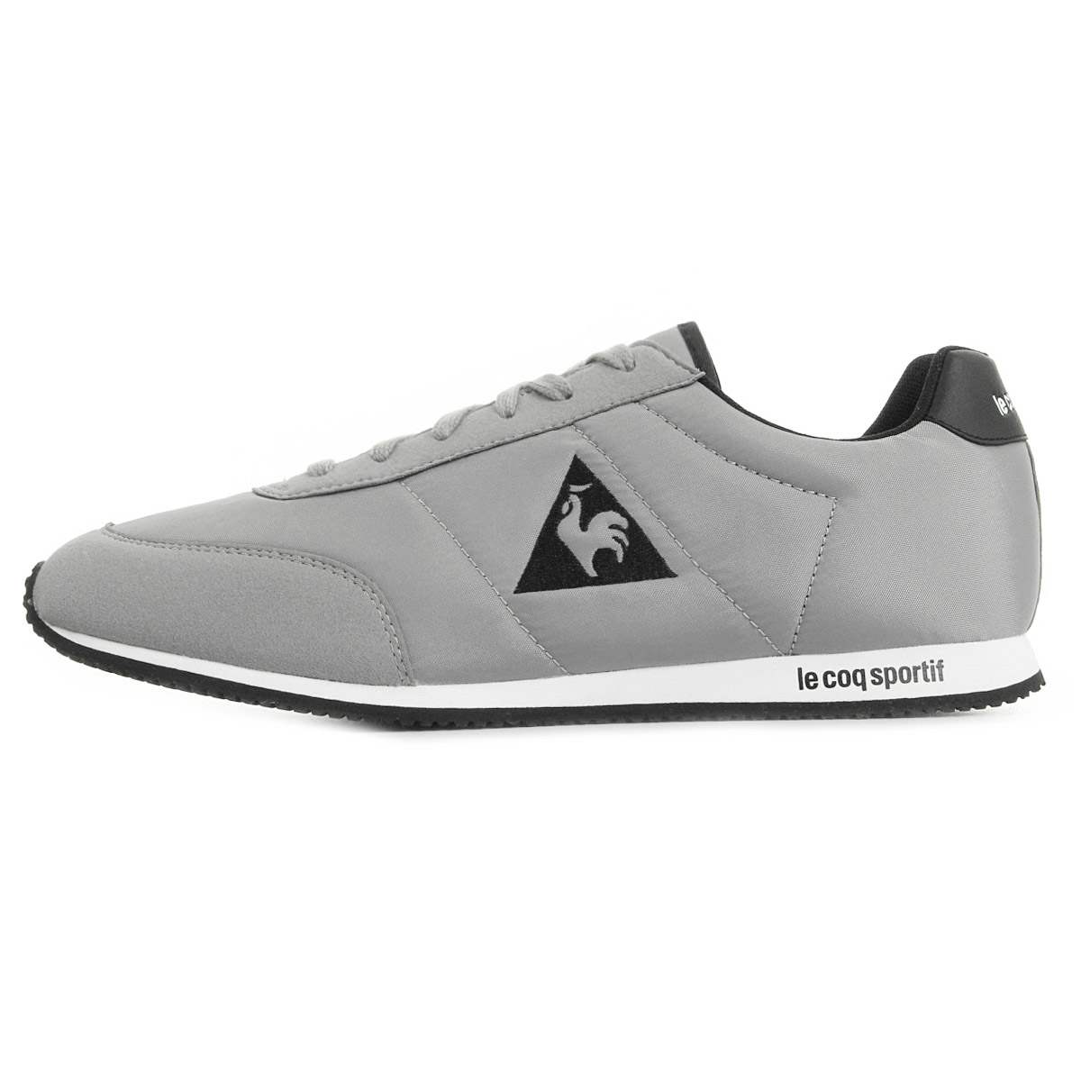 le coq sportif men racerone classic sneaker grey men 39 s shoes gym shoe new ebay. Black Bedroom Furniture Sets. Home Design Ideas