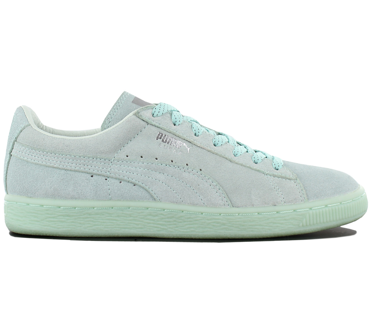 sports shoes a7710 3b055 Details about Puma Suede Classic Mono Ref Iced Ladies Sneaker Shoes Leather  Trainers 362101 02