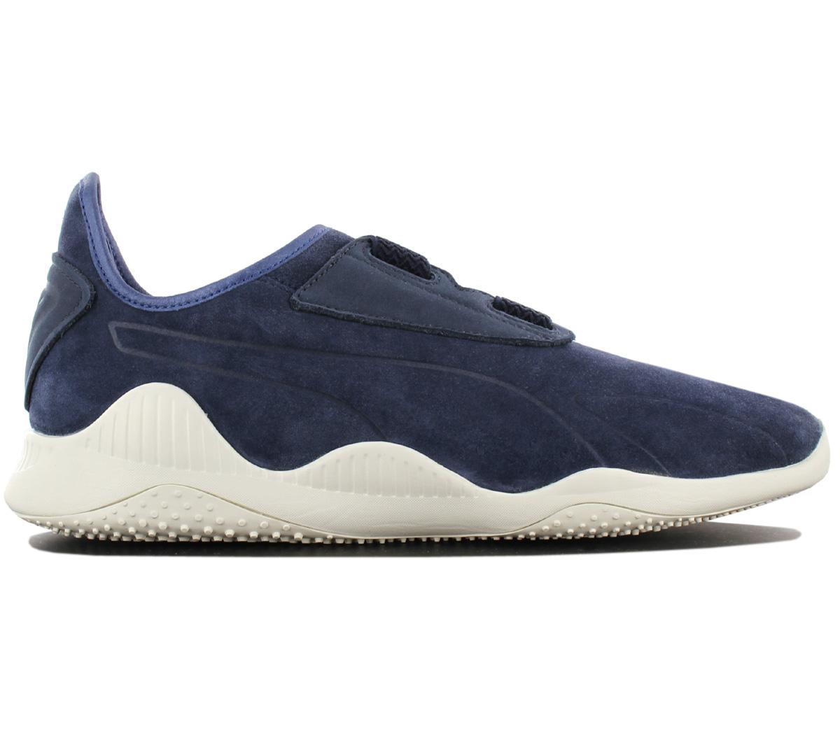 vente chaude en ligne 8fd8f bc139 Détails sur Puma Mostro Paris Sneaker Chaussures de Sport Hommes Femme Cuir  Bleu 363450-01