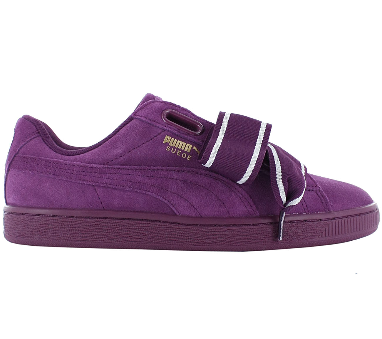 buy popular db31c 20faa Details about Puma Suede Heart Satin 2 Women's Sneaker Shoes Purple Basket  Vikky New 364084-02