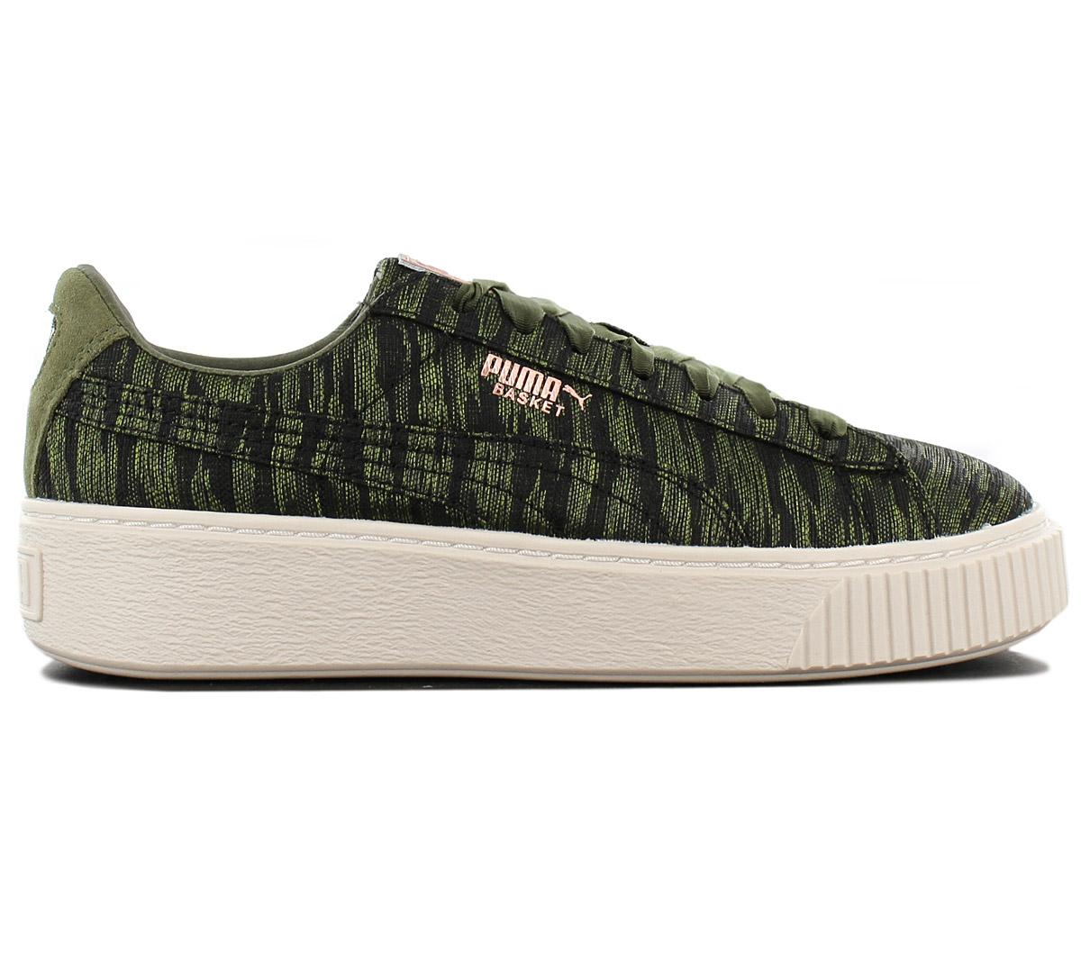 puma basket platform verde